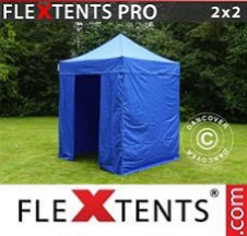 Tenda Dobrável FleXtents PRO  2x2m Azul, incl. 4 paredes laterais