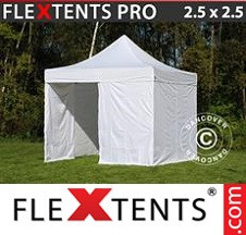 Tenda Dobrável FleXtents PRO 2,5x2,5m Branco, incl. 4 paredes laterais