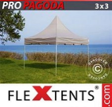 Tenda Dobrável FleXtents PRO 3x3m Latte