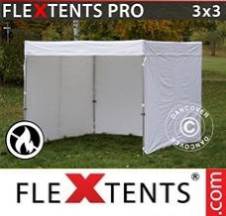 Tenda Dobrável FleXtents PRO Exhibition c/paredes laterais, 3x3m