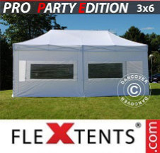 Tenda Dobrável FleXtents PRO 3x6m Branco, incl. 6 paredes laterais