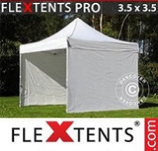 Tenda Dobrável FleXtents PRO  3,5x3,5m Branco, incl. 4 paredes laterais