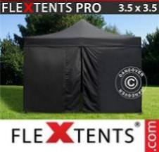 Tenda Dobrável FleXtents PRO 3,5x3,5m Preto, incl. 4 paredes laterais