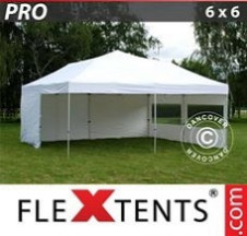 Tenda Dobrável FleXtents PRO 6x6m Branco, incl. 8 paredes laterais
