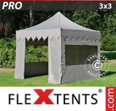 Tenda Dobrável FleXtents PRO 3x3m Latte, incl. 4 paredes