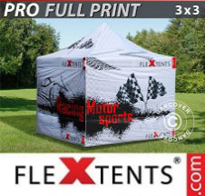 Tenda Dobrável FleXtents PRO digital total, 3x3m, inclui 4