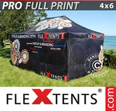 Tenda Dobrável FleXtents PRO digital total, 4x6m, inclui 4