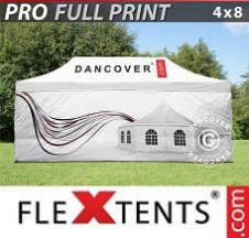 Tenda Dobrável FleXtents PRO digital total, 4x8m, inclui 4